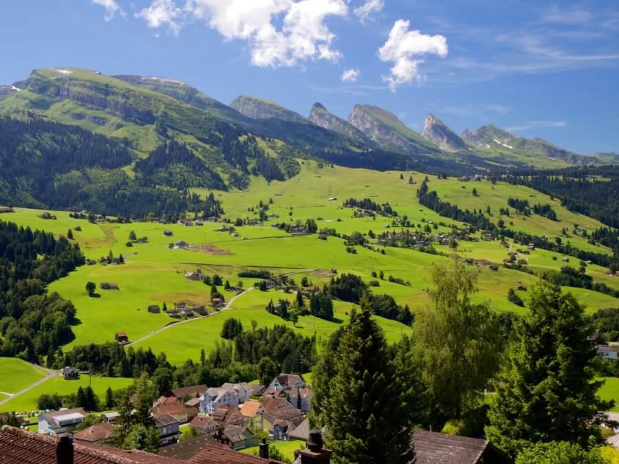 The Churfirsten Mountain Range in the Toggenburg