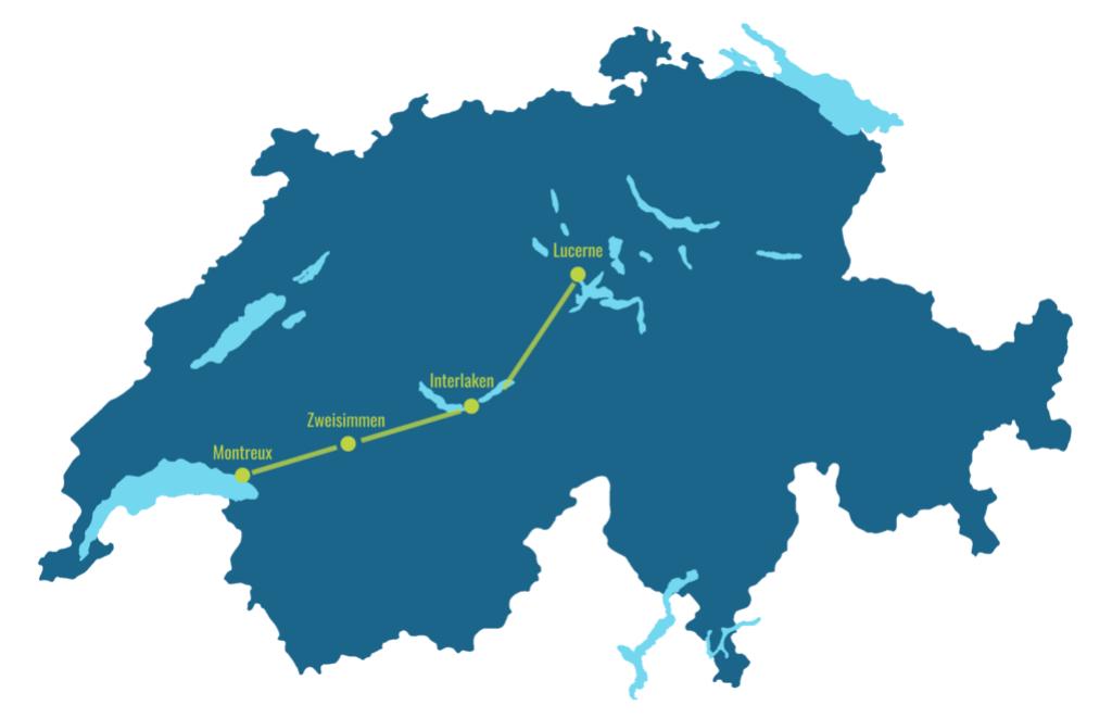 Golden Pass Line map
