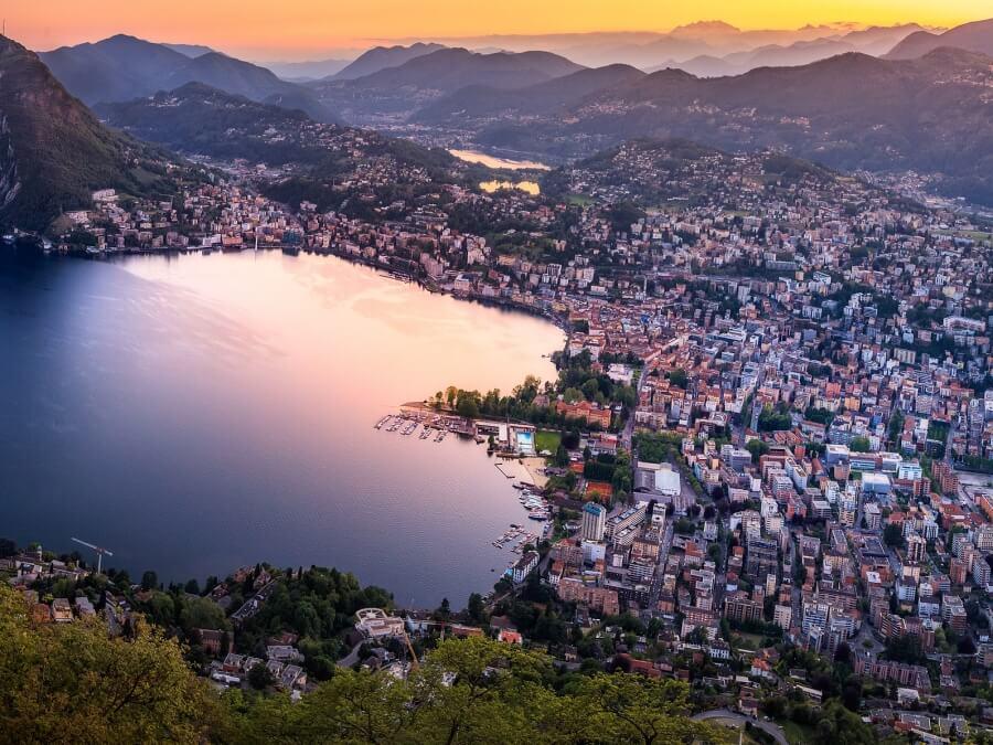 view over Lugano