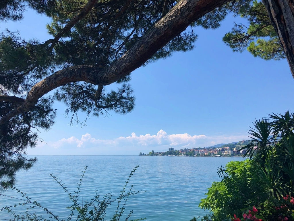 The city of Montreux by Lake Geneva