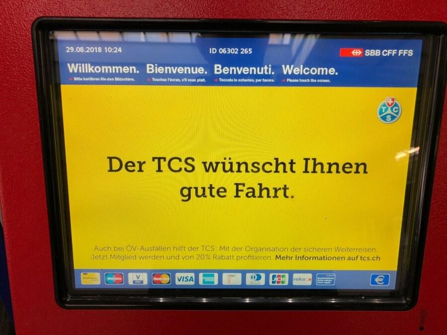 How to buy a ticket in Switzerland