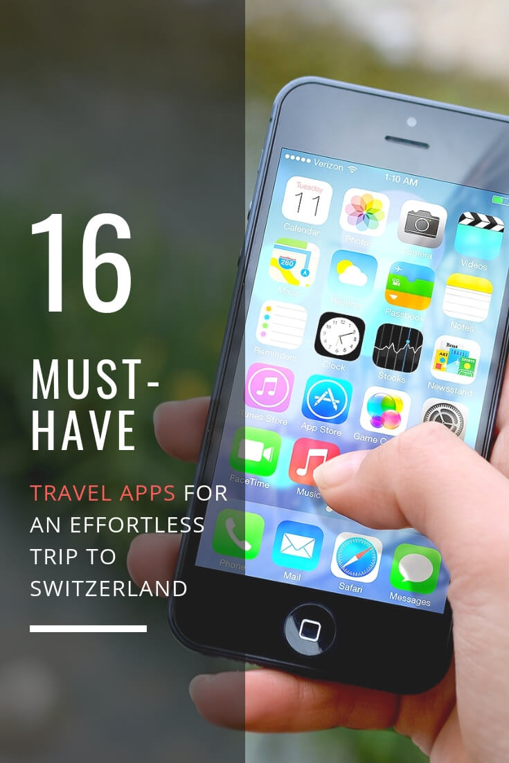 16 must-have travel apps for an effortless trip to Switzerland