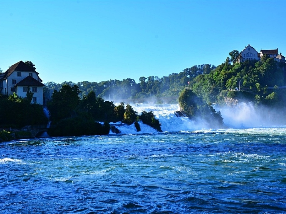 The Rhine Falls are Europe's largest waterfalls