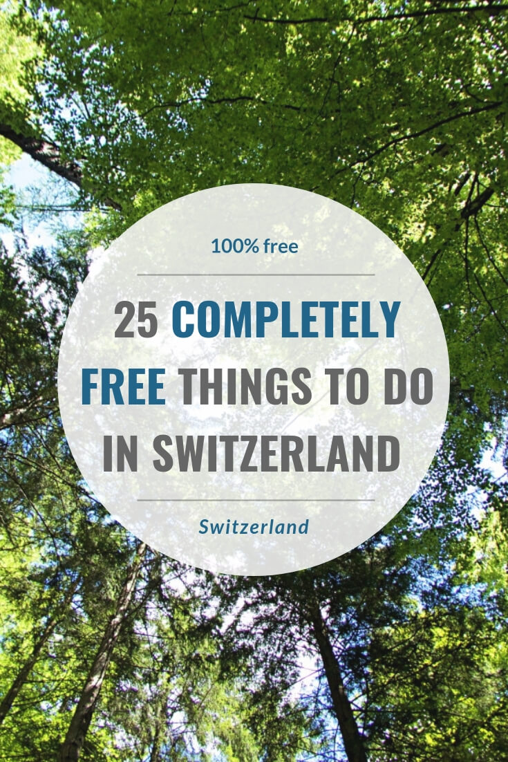 In an expensive country like Switzerland, free things are worth its weight in gold. This post introduces you to 25 free things to visit, eat, see and do in Switzerland.