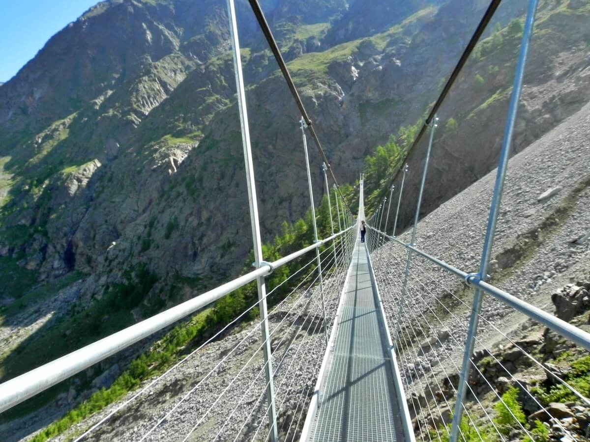suspension bridge Randa