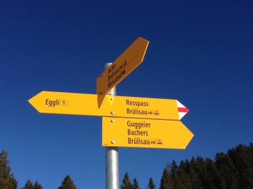 Signpost Swiss Alps