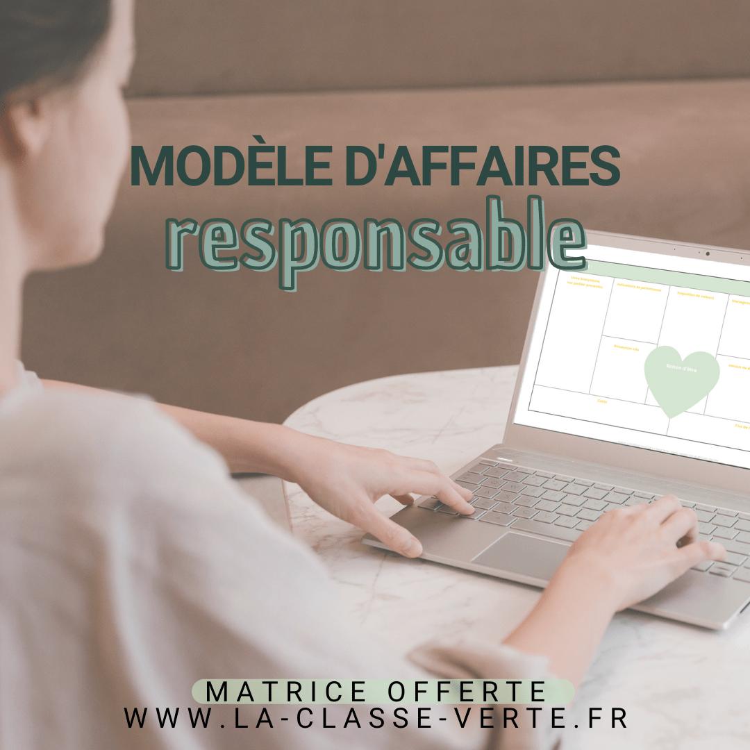 Matrice de modèle d'affaires responsable