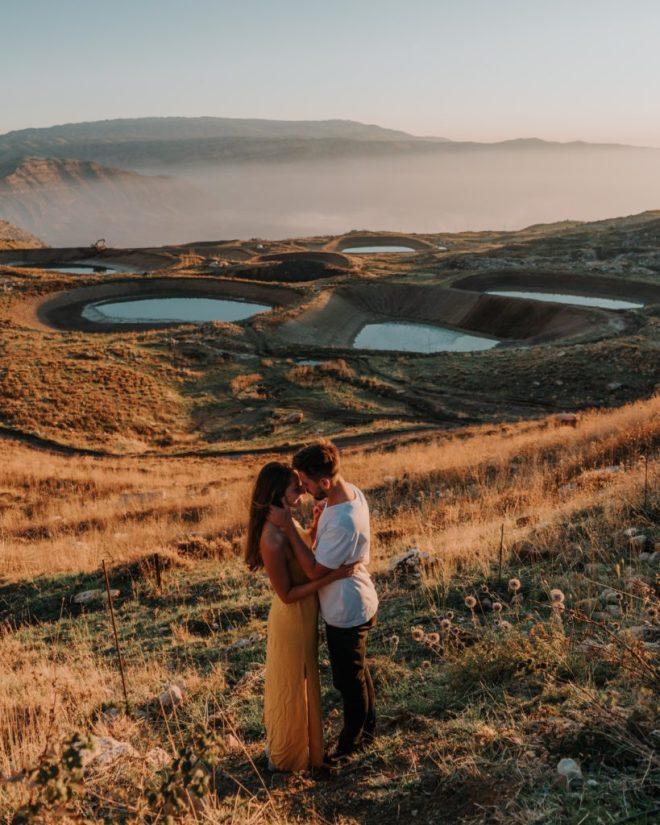 Lebanon Akoura lakes