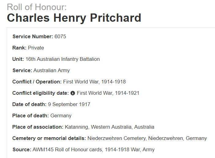 PRITCHARD Charles Henry