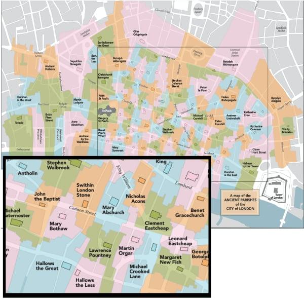 ancient parish guide map