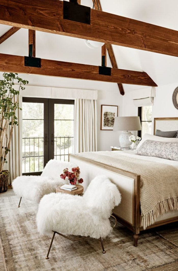 Julianne Hough's rustic glam California cool bedroom style