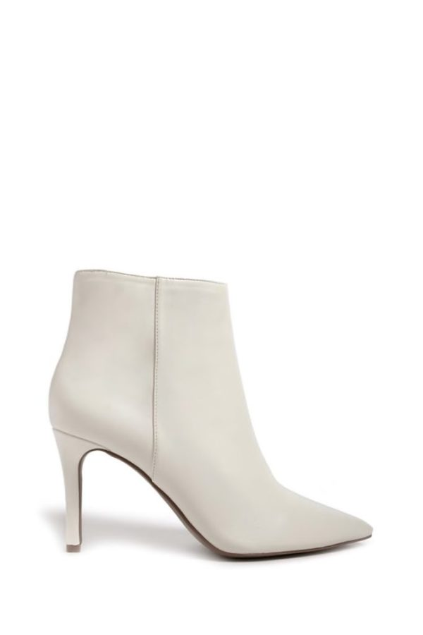 White forever 21 ankle booties