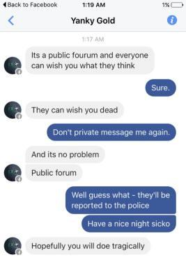 blaize gomez - death threats