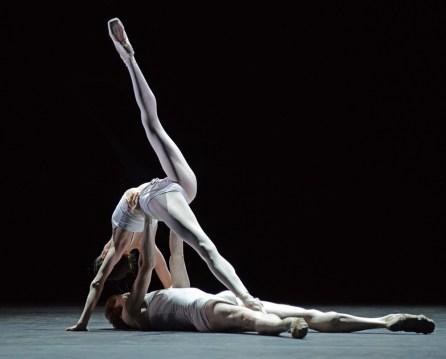 Olivia Cowley and Edward Watson rehearsing Qualia 7