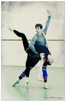 Victoria Tereshkina and Vladimir Shklyarov rehearsing The Legend of Love 1