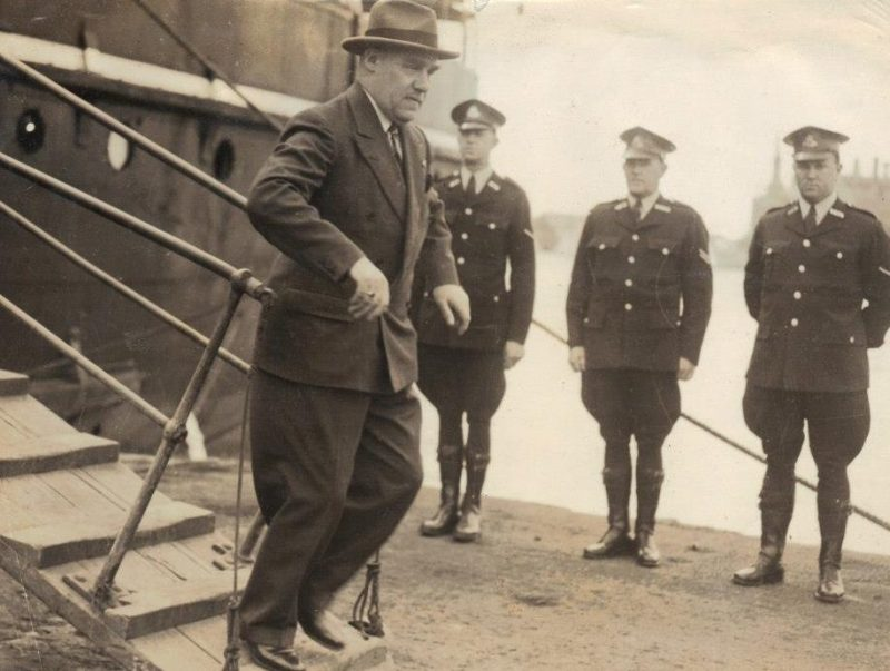 Governor Northcott in Newcastle 1947