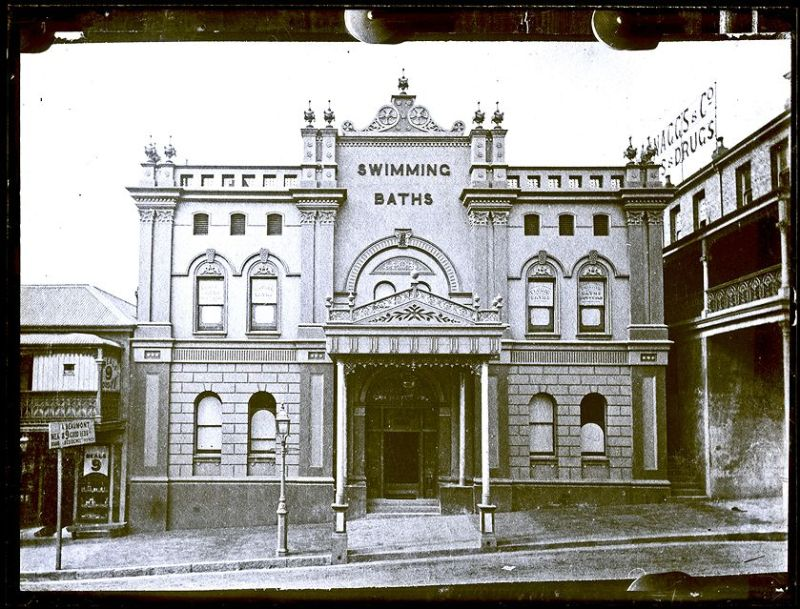 Corporation Baths 1891 - photo from the Ralph Snowball Collection, University of Newcastle Cultural Collections