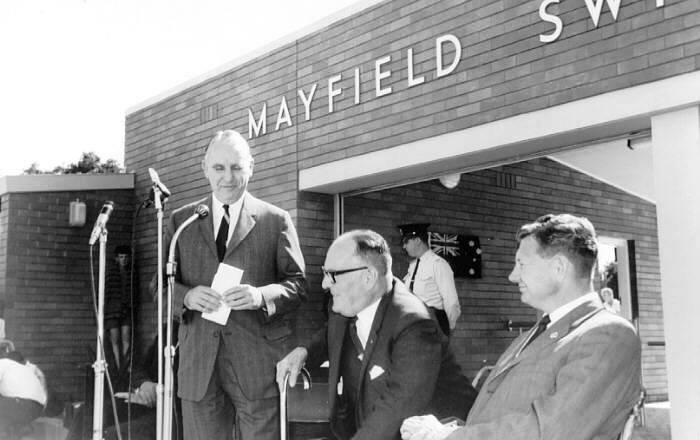 Mayfield Swimming Pool opening 1966