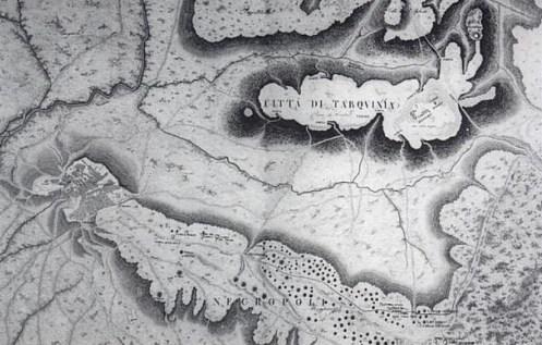 Mapa Etruria - Ciudad Tarquinia