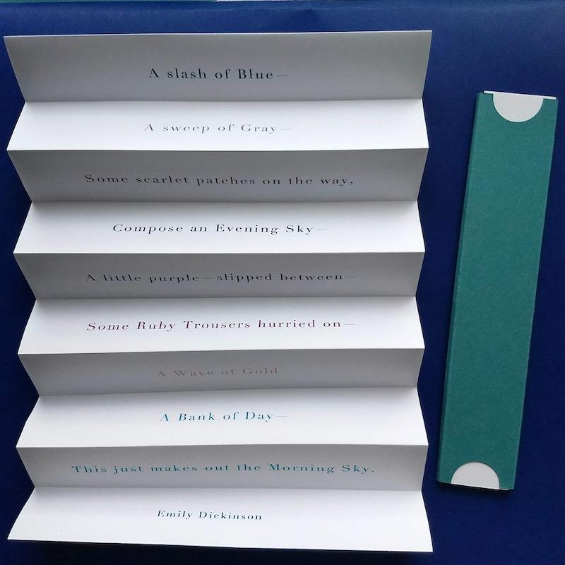 Poem Fold - Emily Dickenson