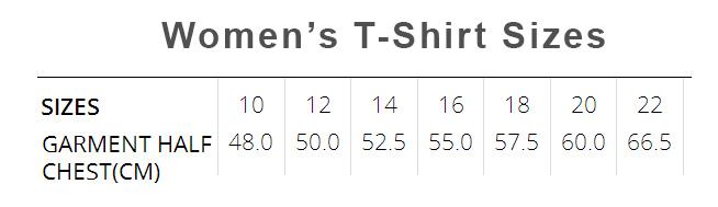 womens size chart 10-22