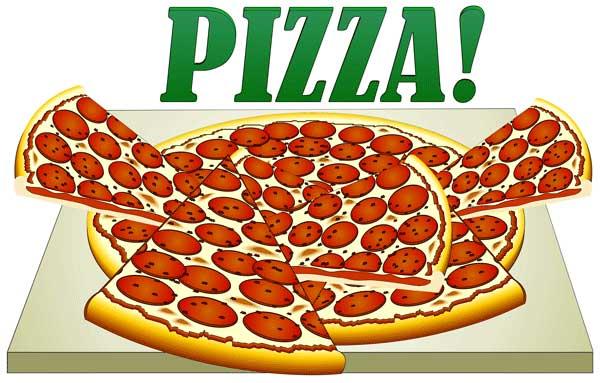 Clip Art Image of Pizza