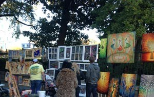 Image of Art vendors in Jackson Square