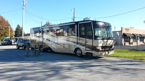image of motorhome parked at the fair grounds