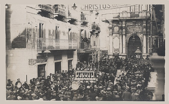 Foto storica dei Misteri di Trapani