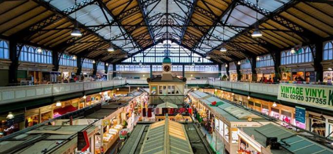 Il mercato coperto di Cardiff, uno dei posti instagrammabili di Cardiff