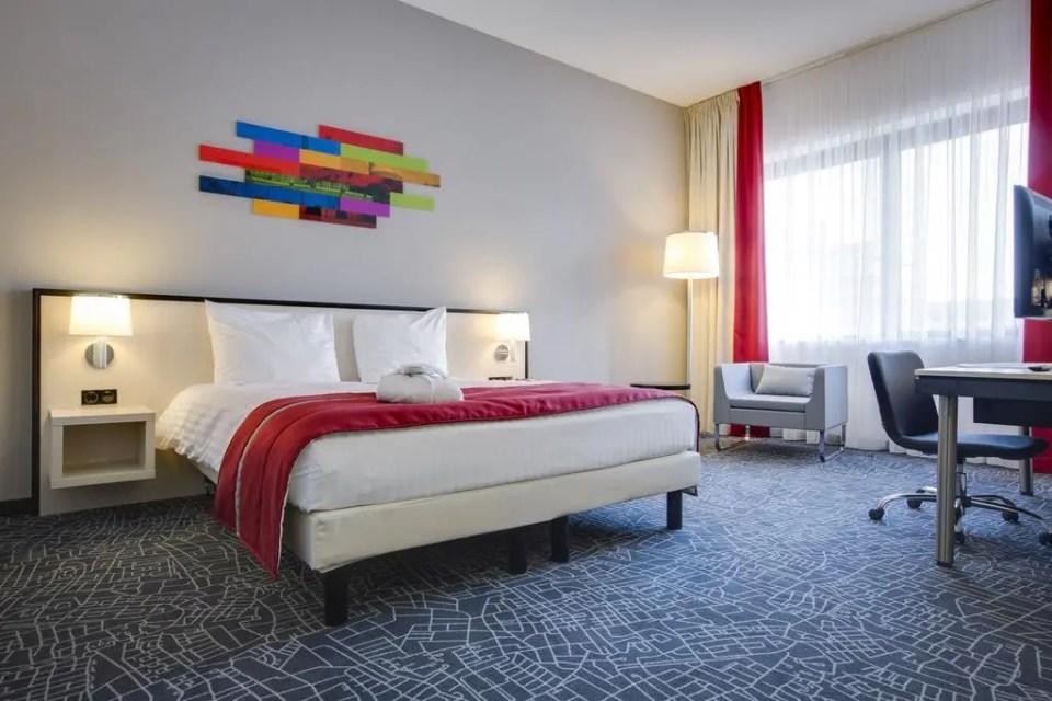 Le camere del Park Inn di Schiphol