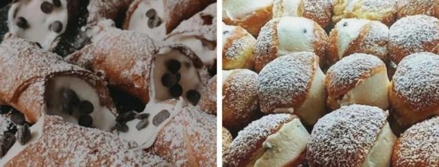 Cannoli e graffe, dolci tipici siciliani