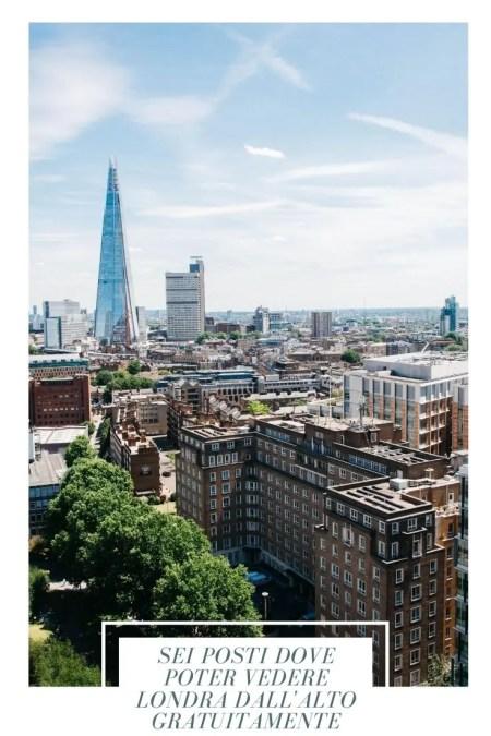 Dove vedere Londra dall'alto gratis pin per pinterest, in foto lo shard