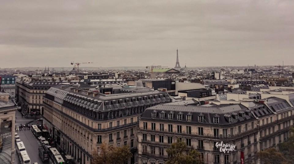 La vista dalla terrazza delle Galeries Lafayette è uno dei posti più instagrammabili di Parigi