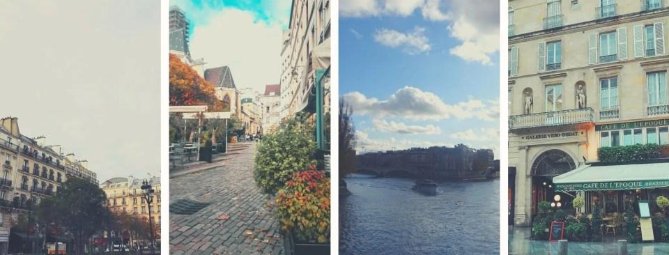 Posti instagrammabili di Parigi alla rinfusa: l vista sulla senna, una delle strade acciottolate del Marais