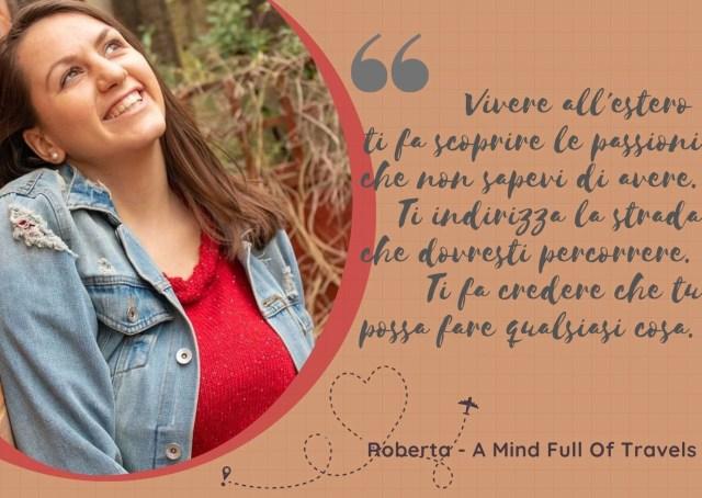 Vivere all'estero cambia la vita l'esperienza di Roberta