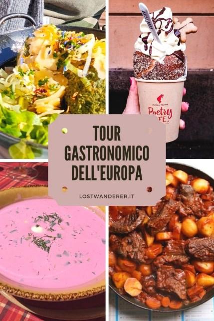 Tour gastronomico Europa pin per Pinterest
