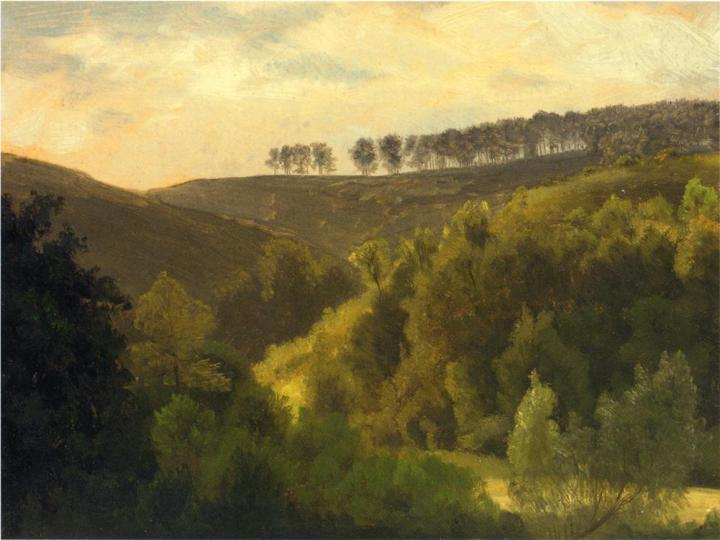 Sunrise Over Forest And Grove, Albert Bierstadt