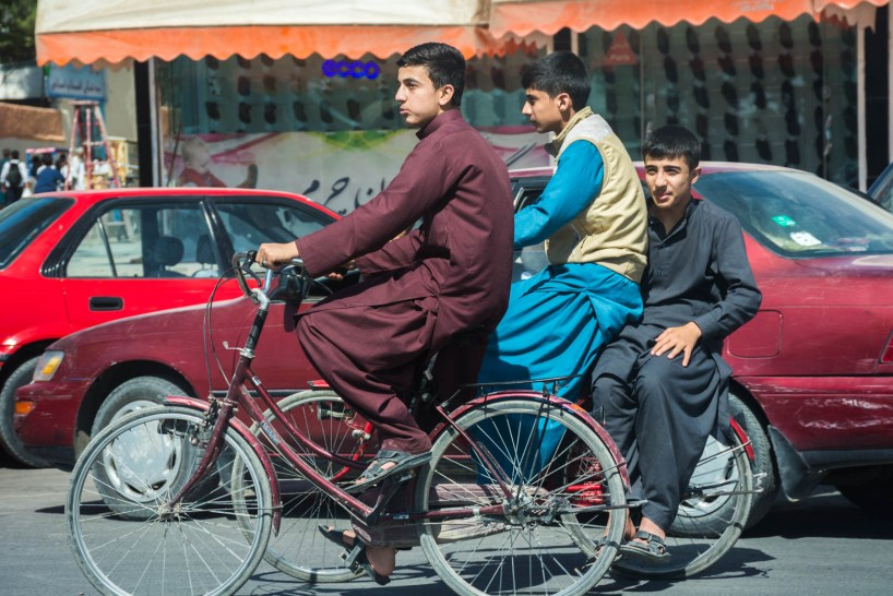 Boys biking in Herat, Afghanistan - Lost With Purpose