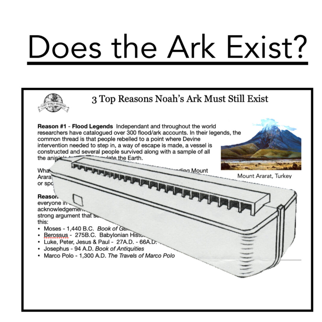 3 Reasons Noah's Ark Must Exist: Reason 2