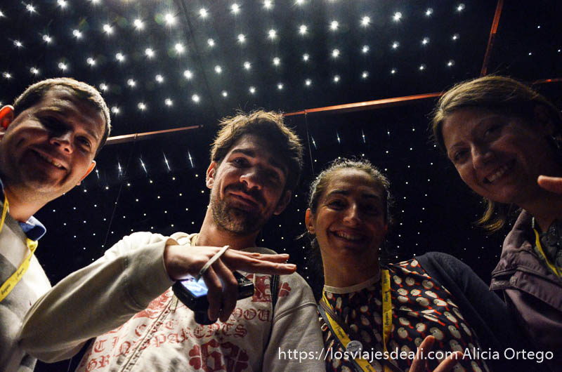 cuatro bloggers en un ascensor en mi primer tbm