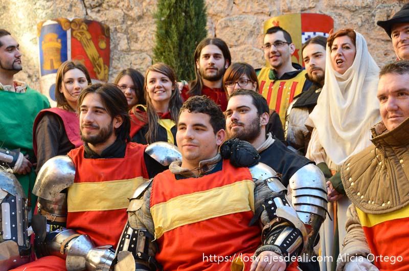 foto del equipo de lucha medieval en el castillo de belmonte