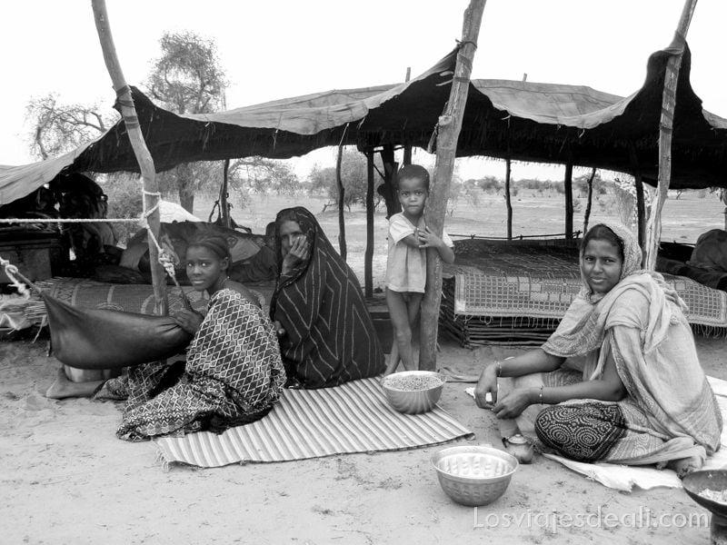 familia nómada de Burkina en Gentes de África