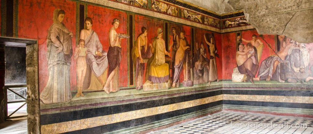 visita a Pompeya villa de los Misterios