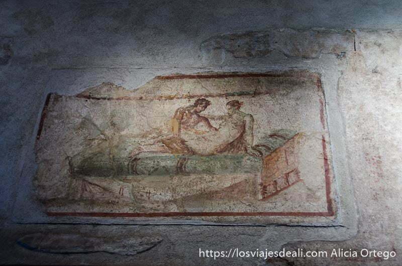 pintura de pareja copulando visita a pompeya