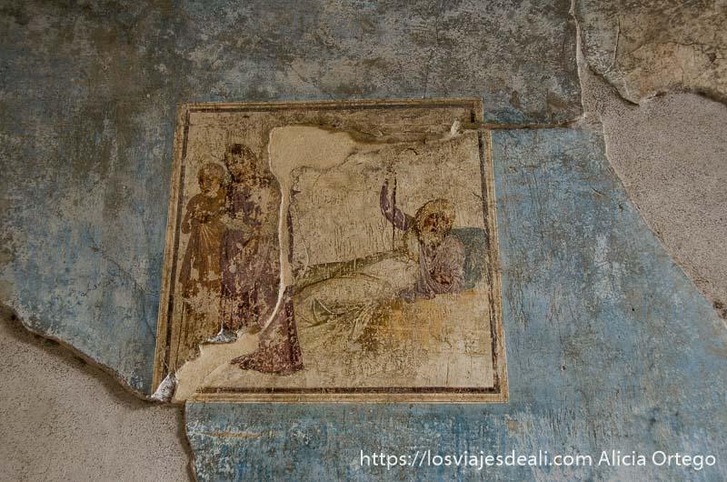 escena de la ilíada en visita a pompeya