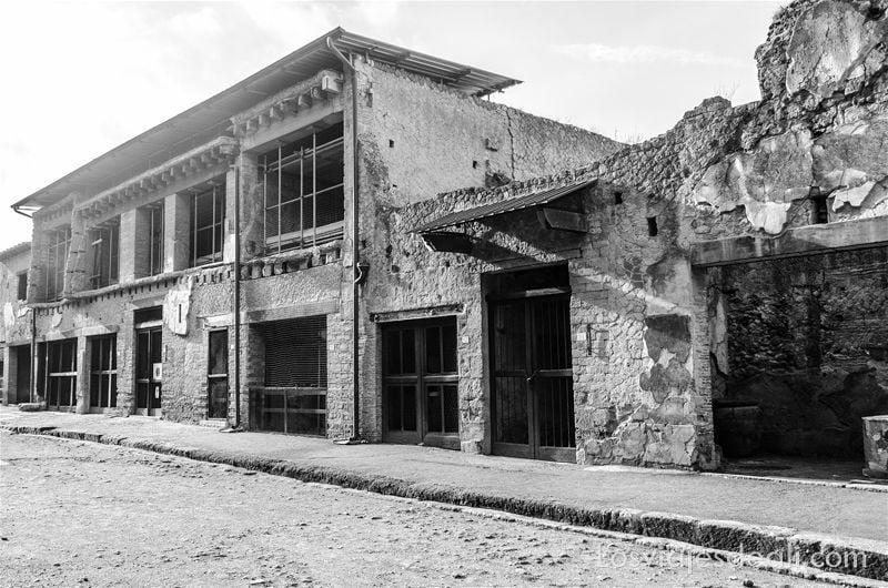 visita a Herculano edificios