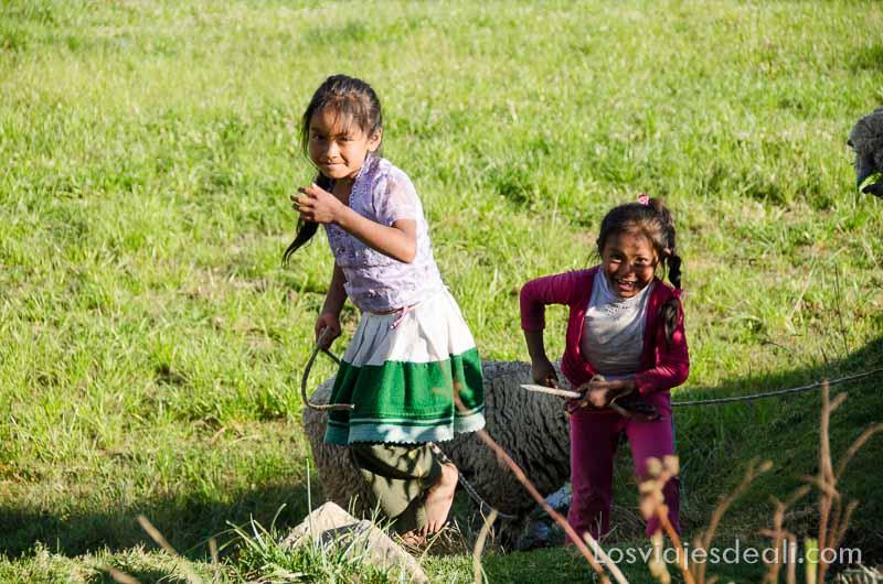 niñas de comunidad humacchuco