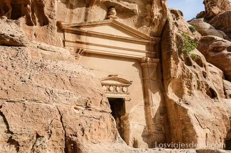 palacio en pequeña petra jordania