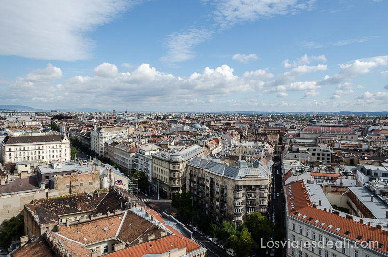 Budapest desde las alturas torre San Esteban